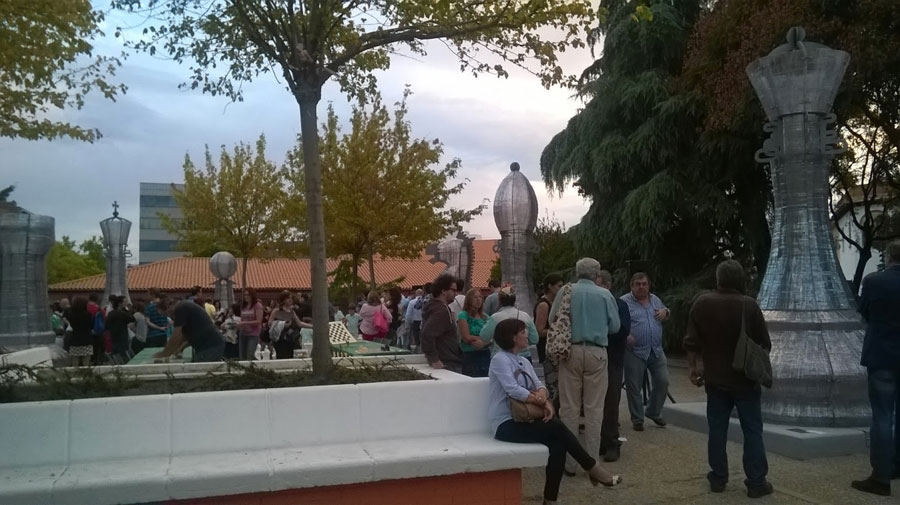 Parque gigante de ajedrez en Madrid