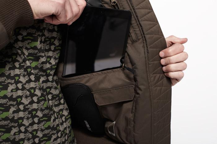 abrigo bolsillo especial ipad