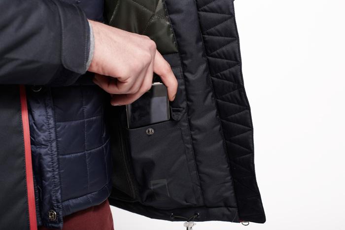 abrigo bolsillo movil smartphone