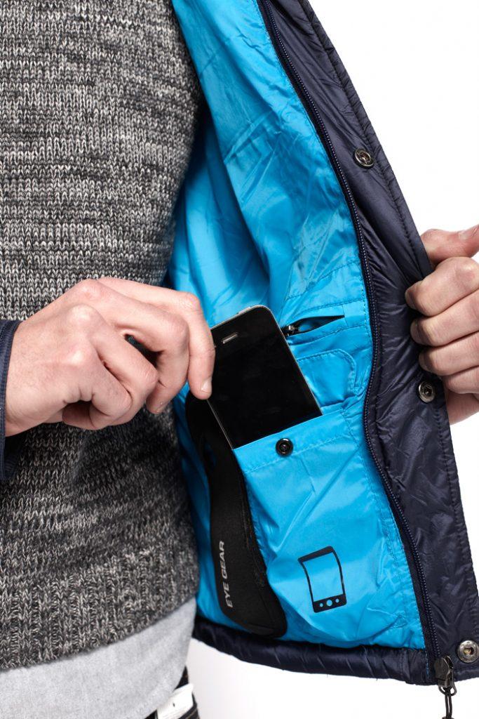 abrigo tiwel bolsillo móvil