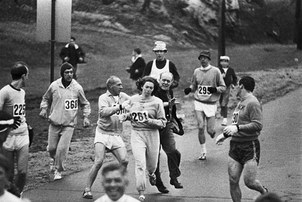 Kathrine Switzer maratón Boston