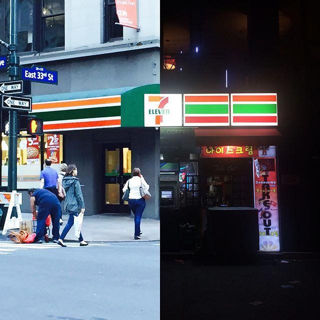amor a distancia koreanos foto collage 7eleven