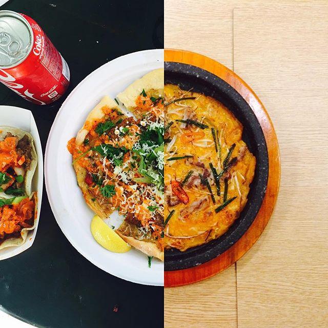 amor a distancia koreanos foto collage comida