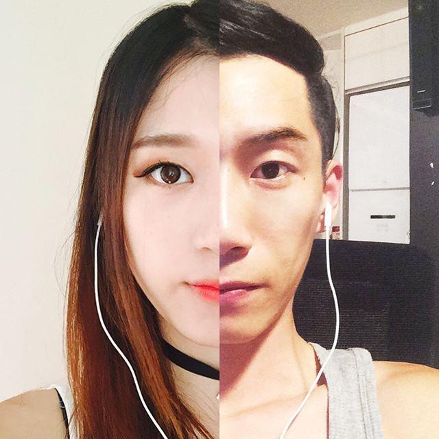 amor a distancia koreanos foto collage skype