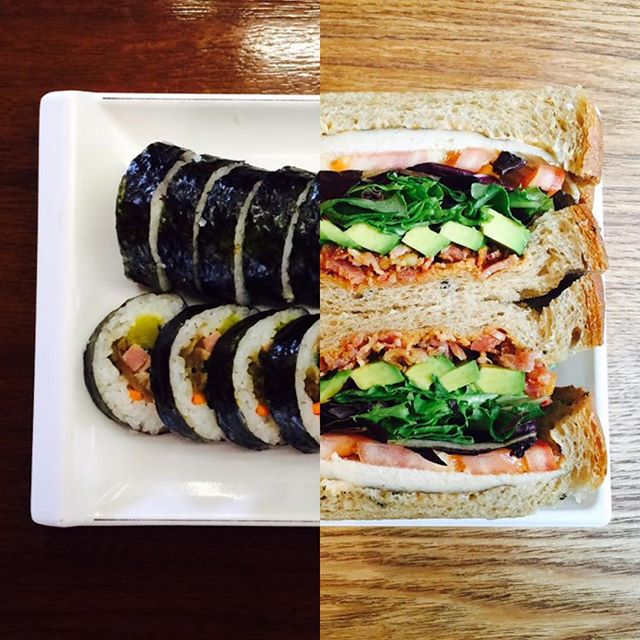 amor a distancia koreanos foto collage sushi