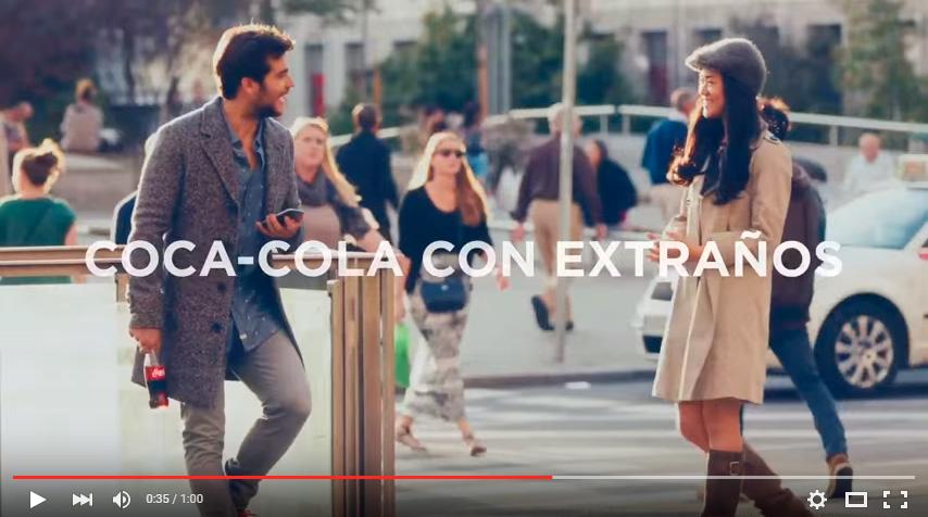 Camisa Tiwel en el anuncio de Coca-Cola a nivel internacional