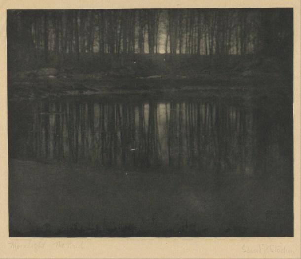 fotos más caras de la historia Edward Steichen estanque luz luna
