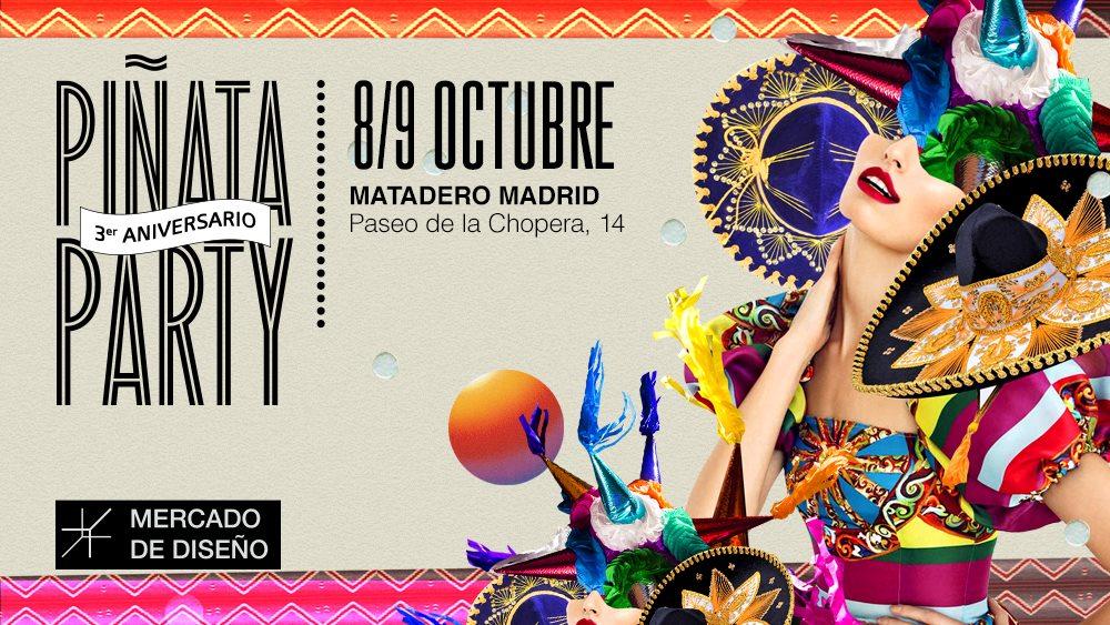Mercado de Diseño: 3 aniversario – Piñata Party