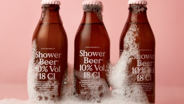 shower beer cerveza ducha
