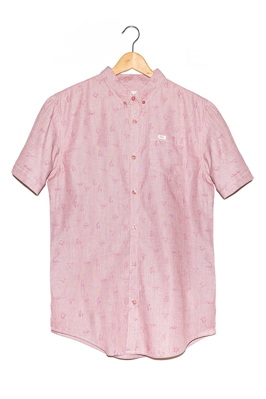 Camisa-Cream-Burgundy