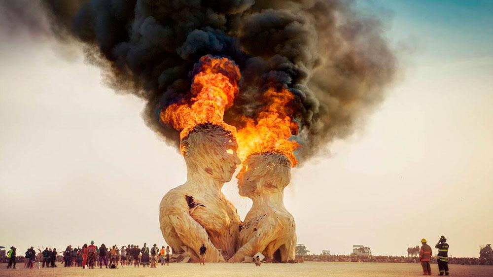 Burning man fest fire