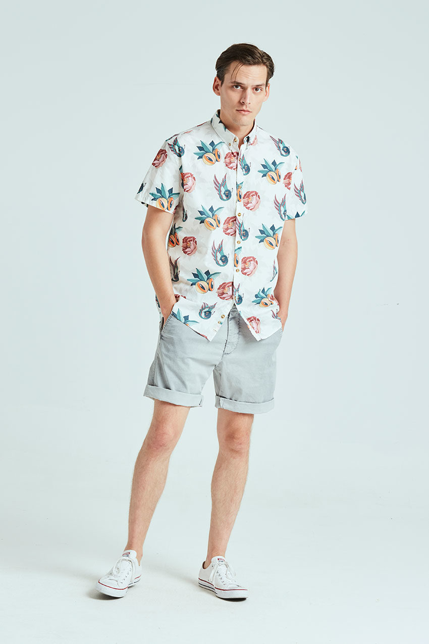 Boa Jungle Shirt Tiwel snow white 01
