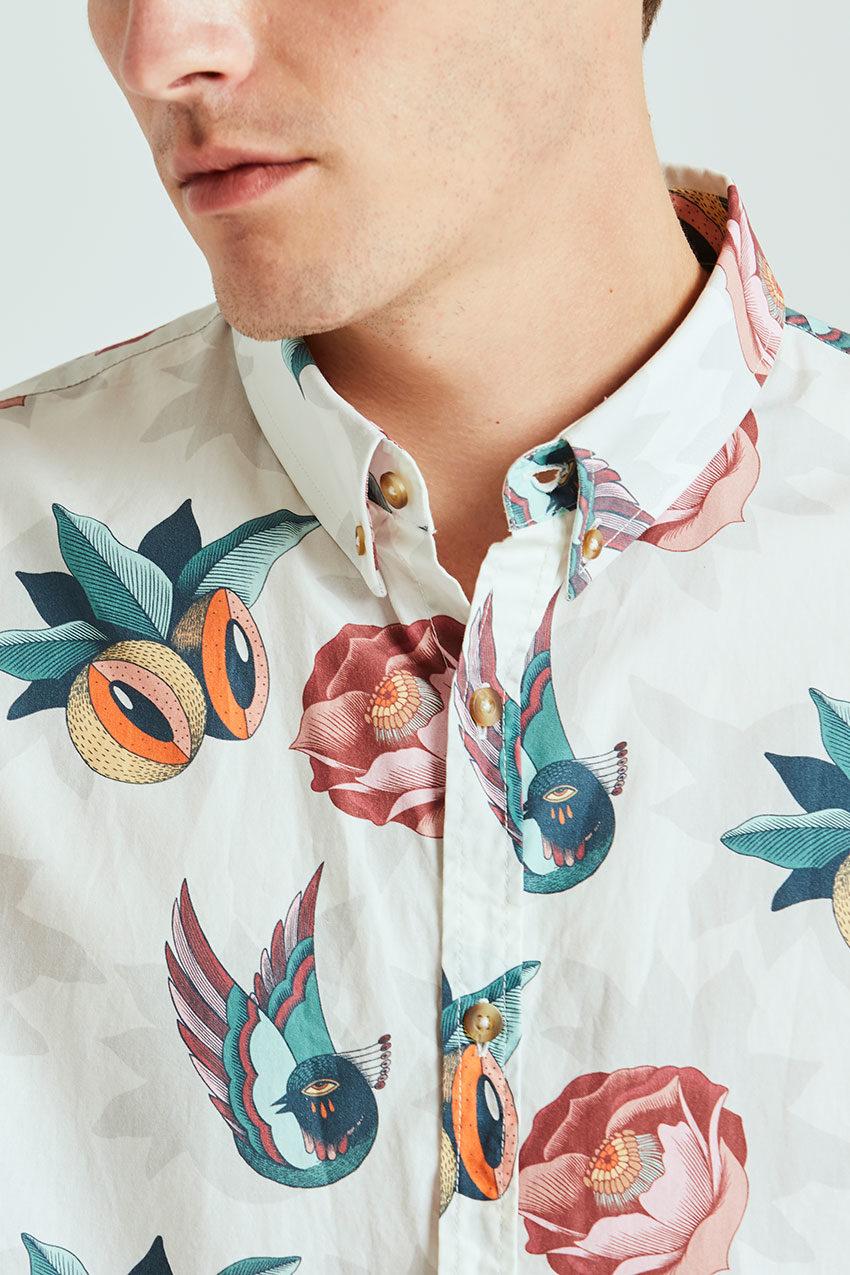 Boa Jungle Shirt Tiwel snow white 04