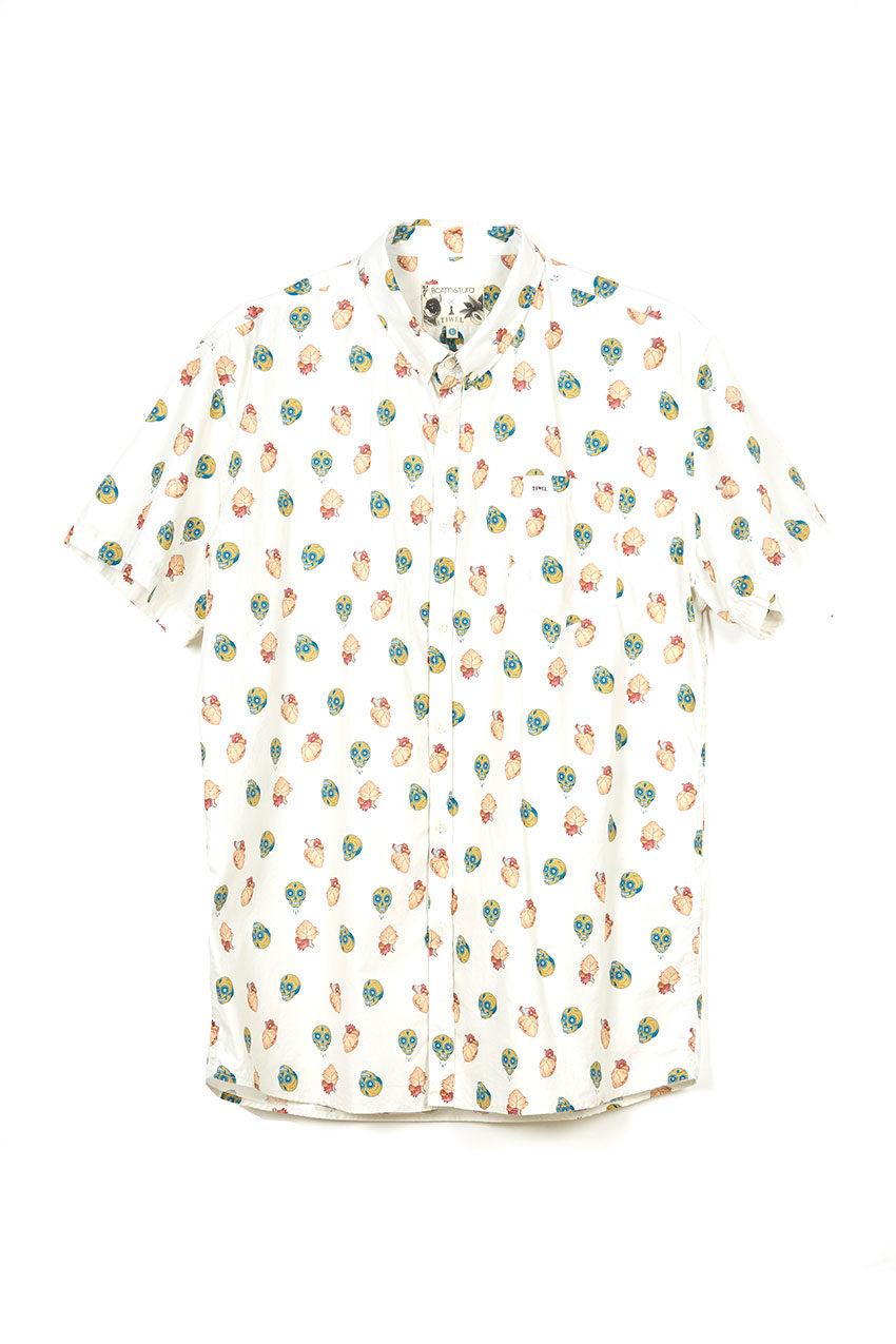 Camisa Boa Mexico Tiwel snow white