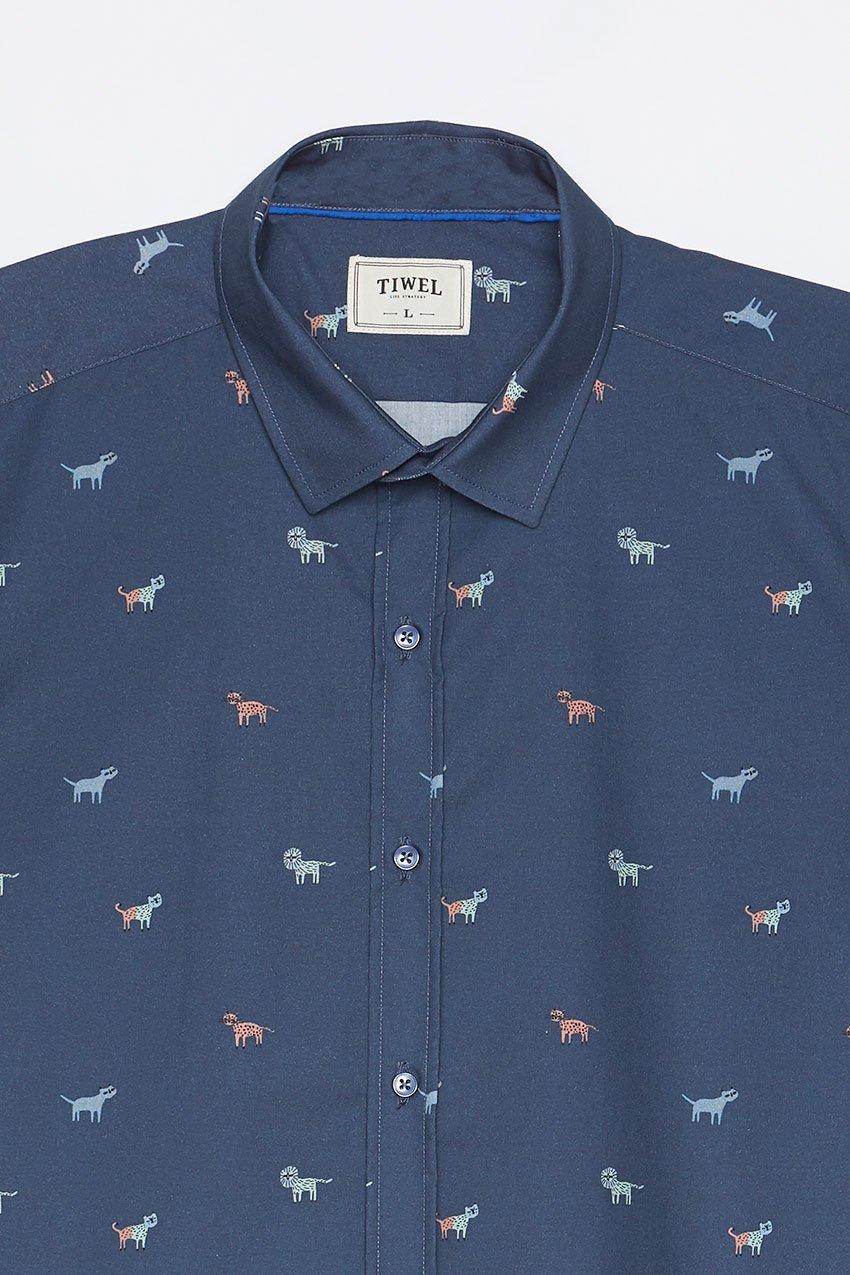 Camisa Faune Tiwel dark blue 01