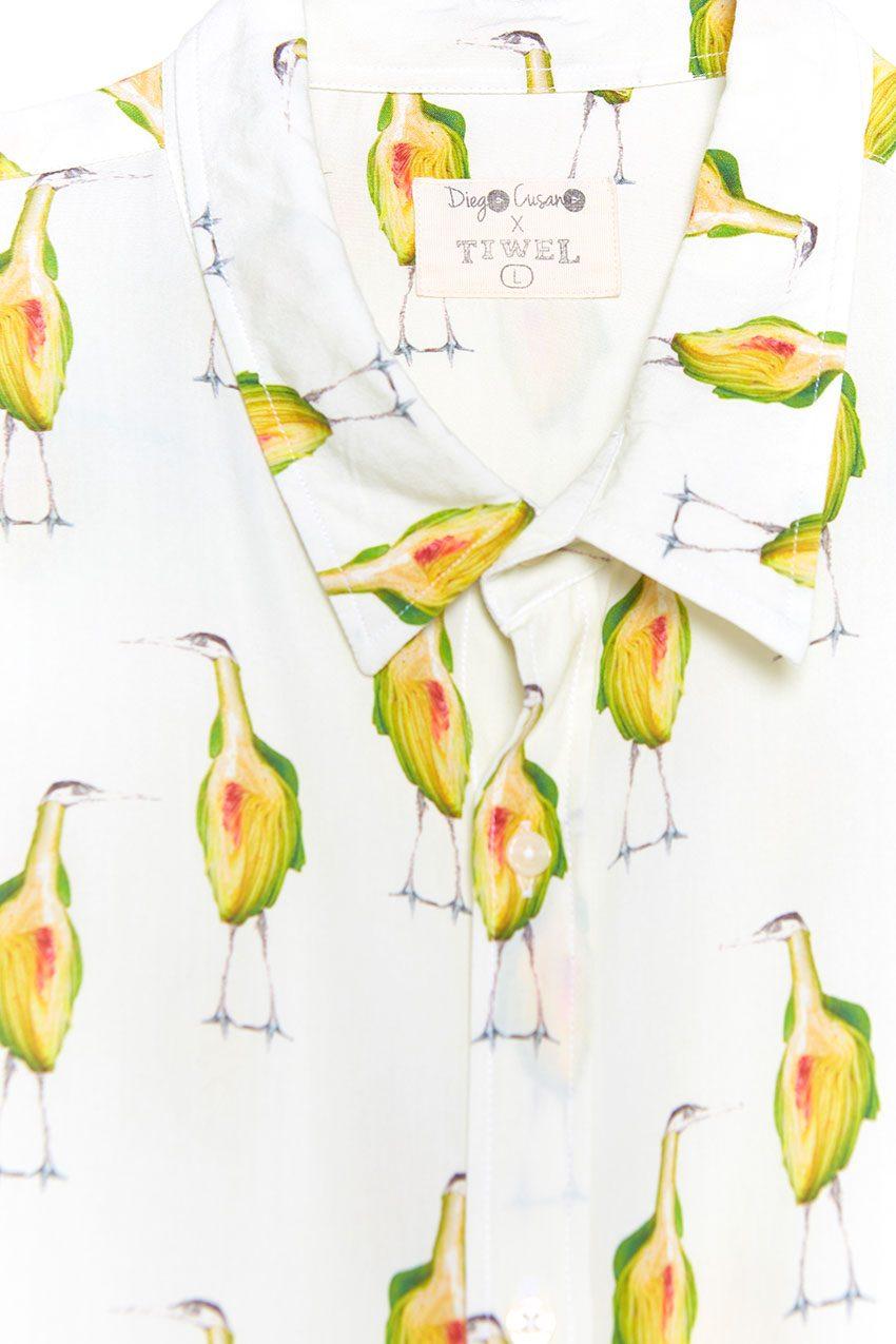 Garzas Shirt Tiwel off white 02