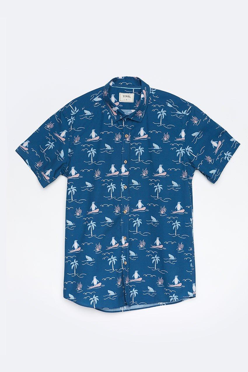 Camisa Honolulu Tiwel deep water