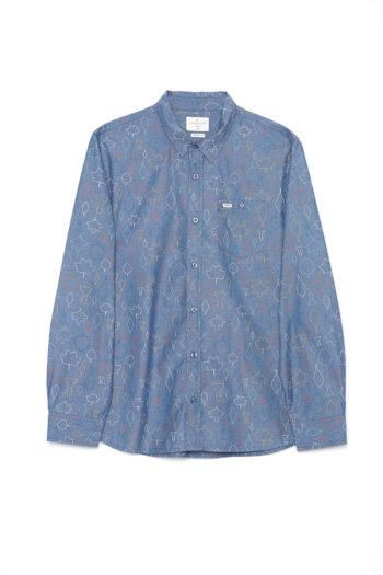 Camisa Leavedraw Mid Blue Chambray