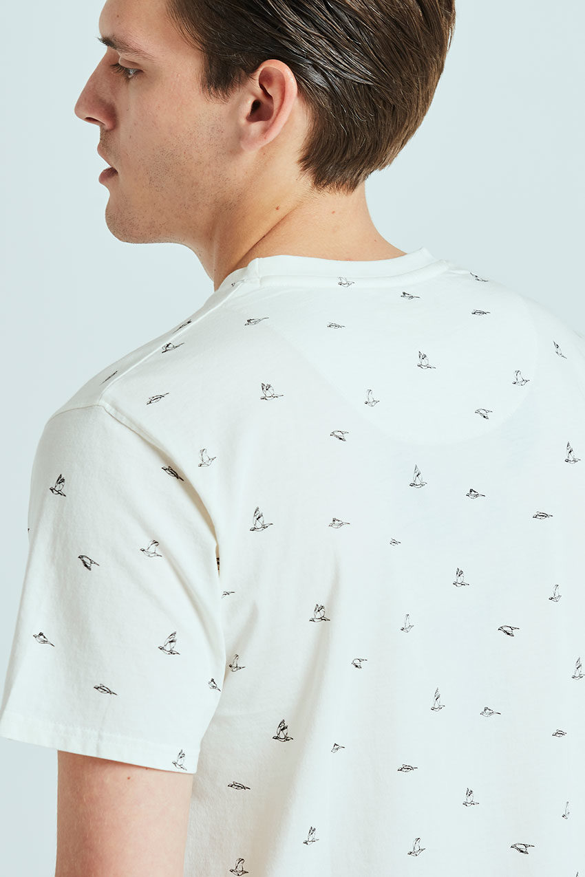 Birds Tshirt Tiwel snow white 02