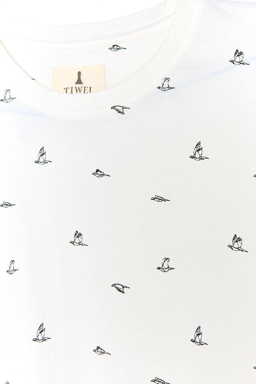 Birds Tshirt Tiwel snow white 03