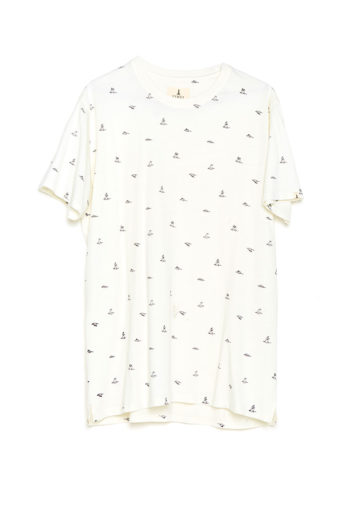 Camiseta Birds Tiwel snow white