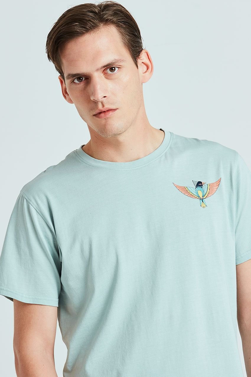 Boa Bird Tshirt blue haze 02