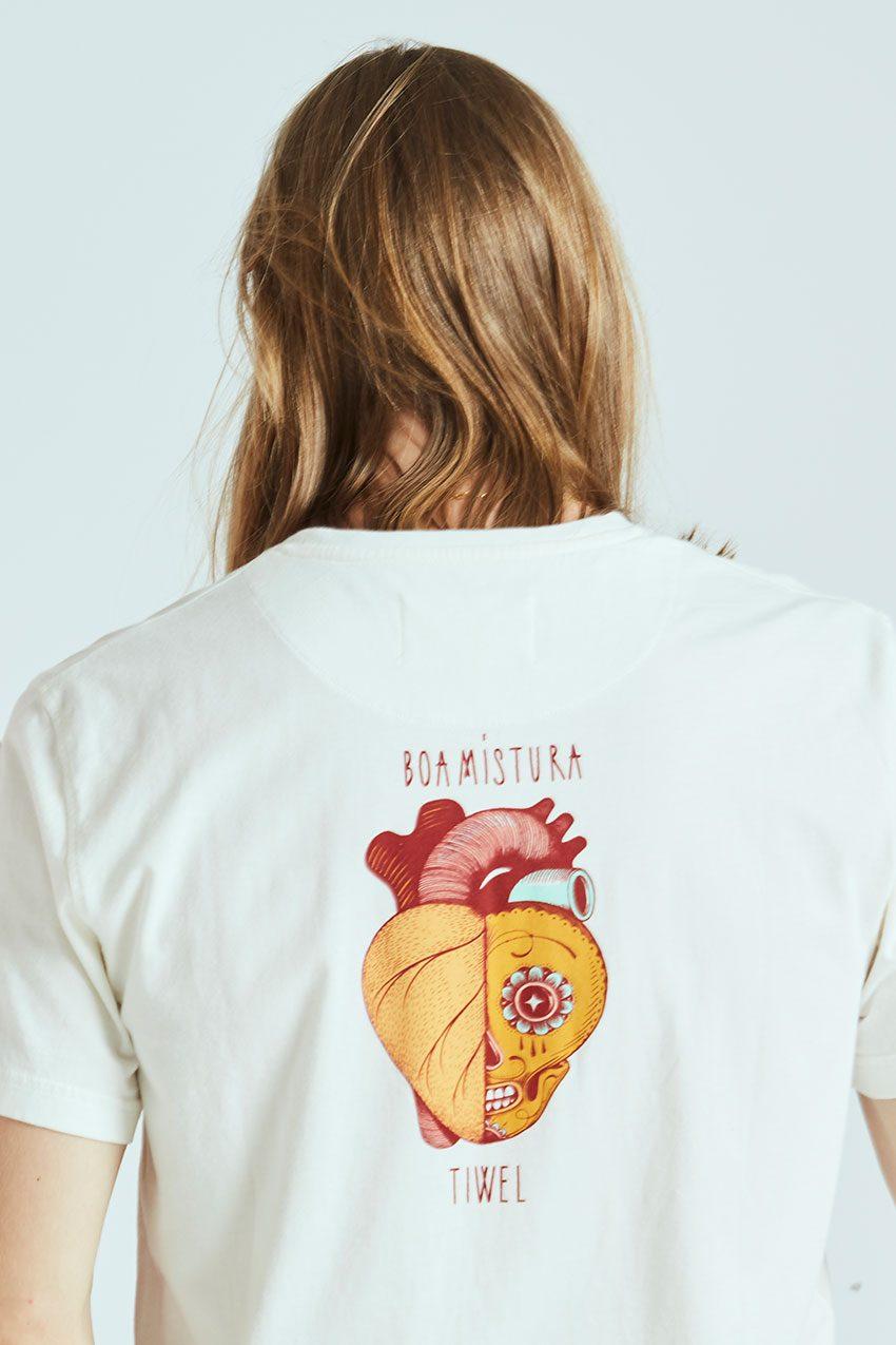 Camiseta Boa Calaca Tiwel off white 04