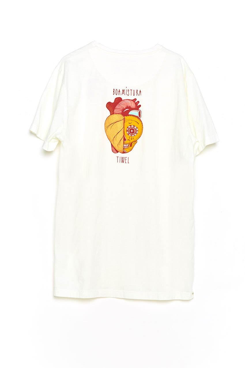 Boa Calaca Tshirt Tiwel off white trasera