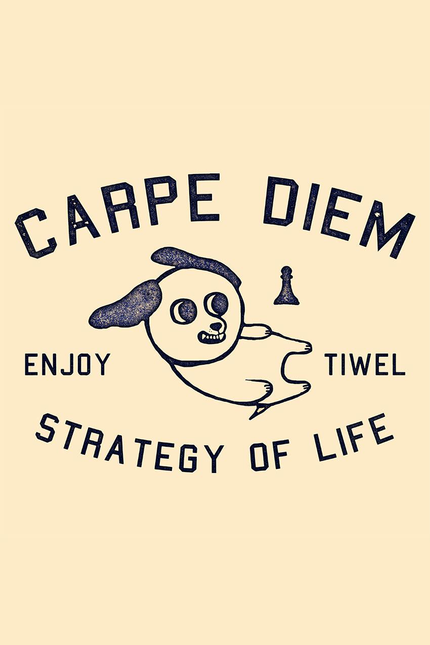 Camiseta Diem Tiwel double cream 05