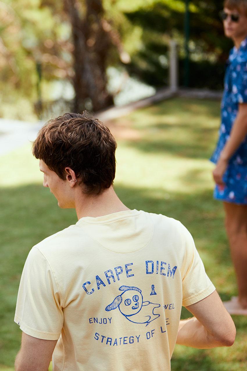 Camiseta Diem Tiwel double cream 06