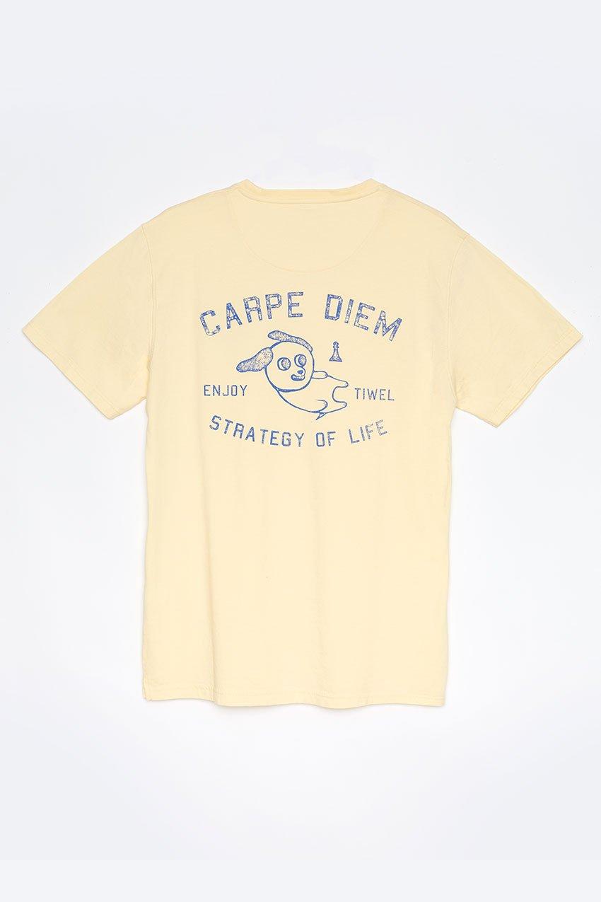 Camiseta Diem Tiwel double cream trasera