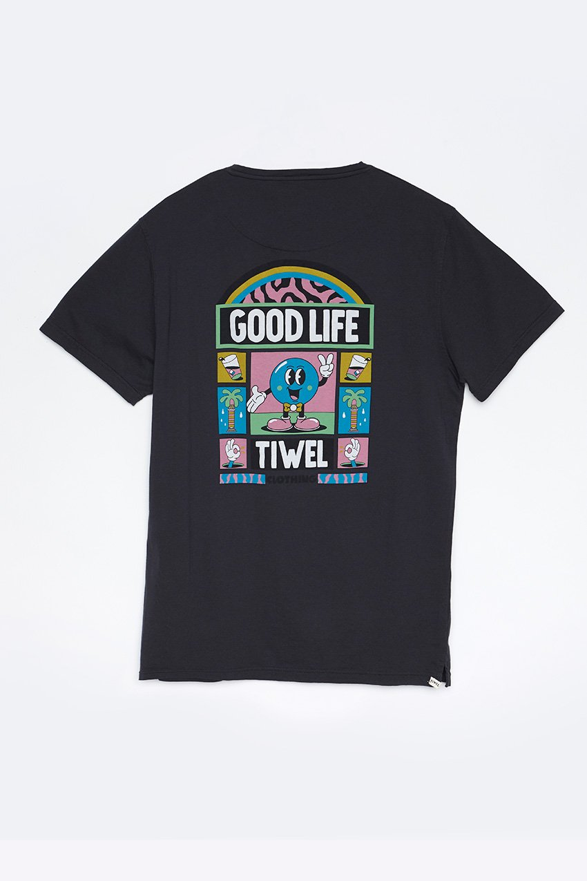 Camiseta Good Life Tiwel Yeye Weller pirate black trasera