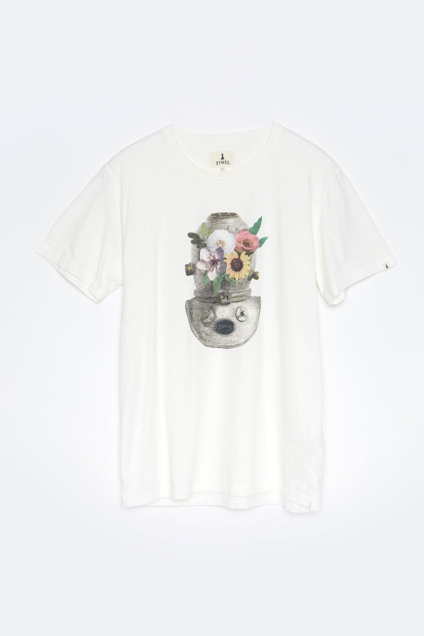 Camiseta Mask Tiwel off white