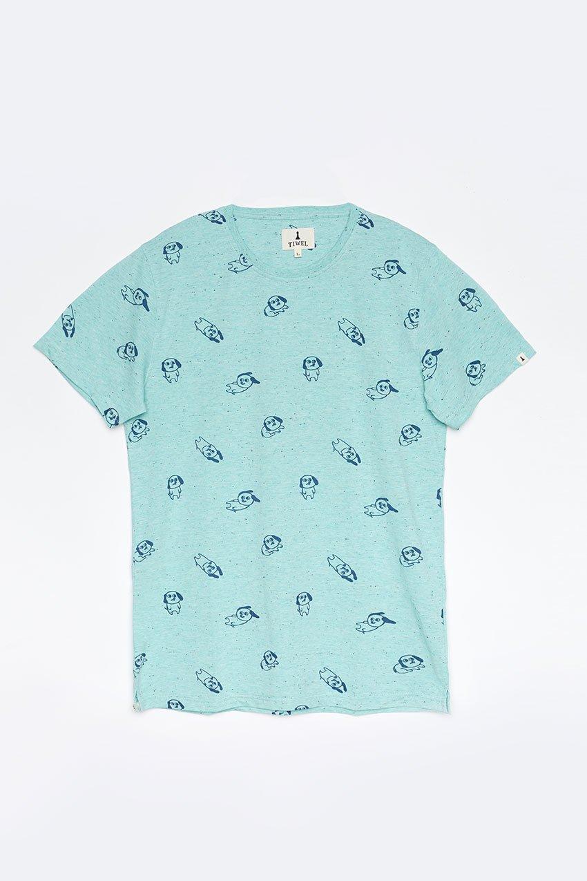 Camiseta Moods Tiwel jade cream