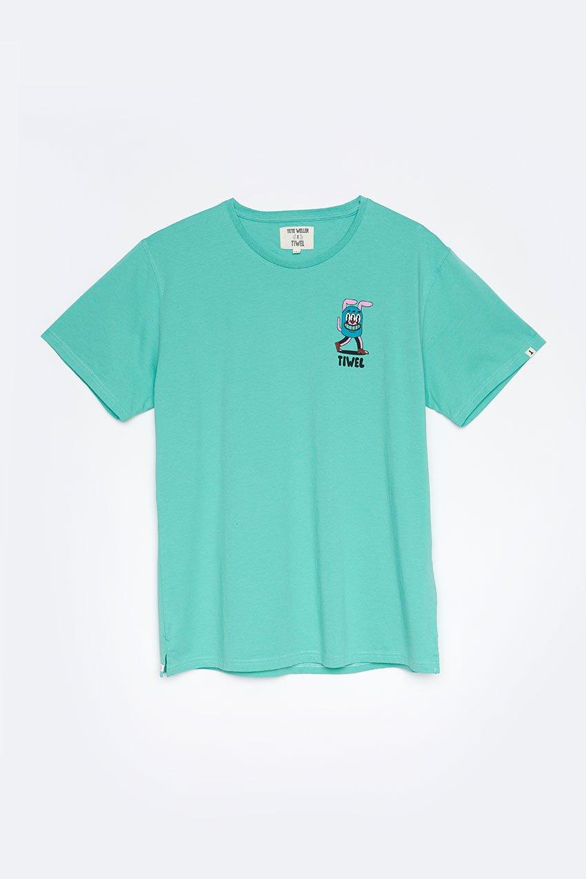 Camiseta Newa Tiwel Yeye Weller jade cream