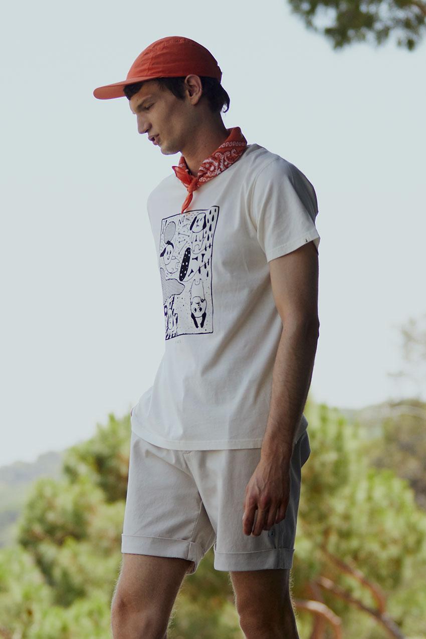 Camiseta Off Line Tiwel off white 06