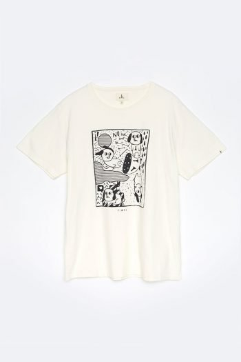 Camiseta Off Line Tiwel off white