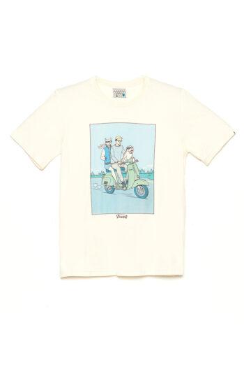 Camiseta S-Cute David Sanchez Cashew 01