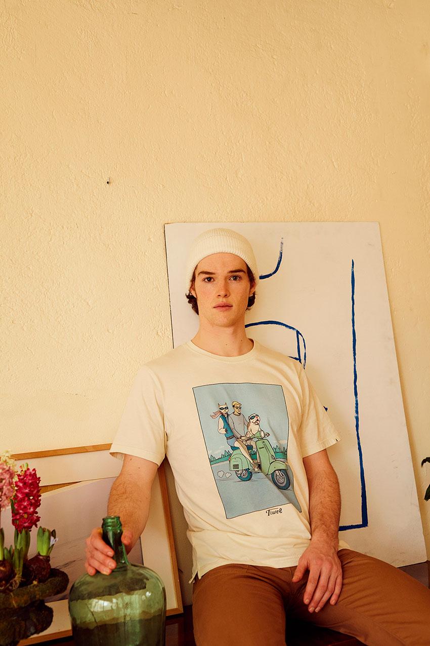 Camiseta S-Cute David Sanchez Cashew 06