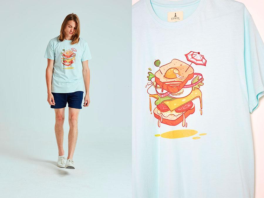Camiseta Sandwich Tiwel cultura inquieta paco reyes