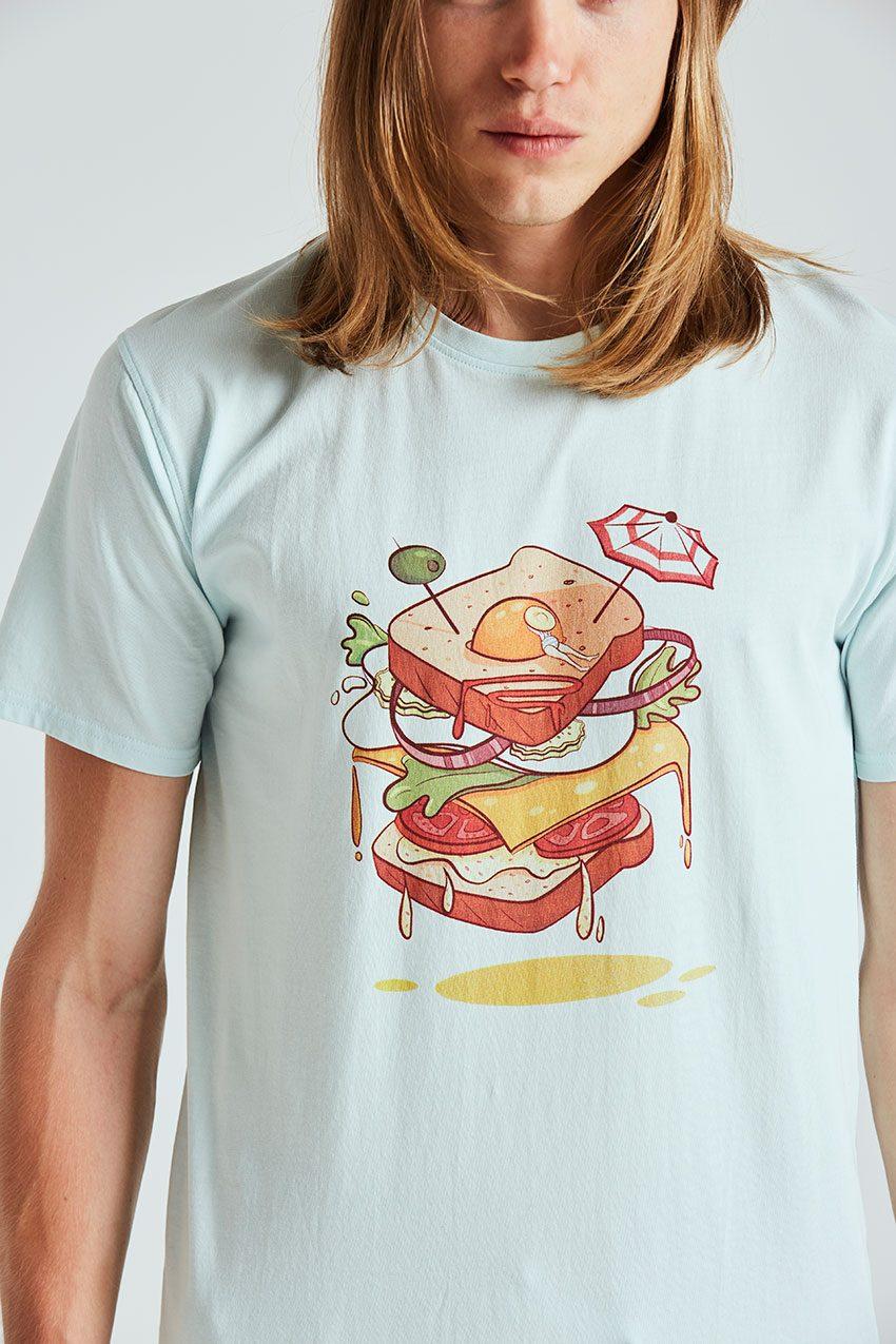 Sandwich Tshirt Tiwel wan blue 02