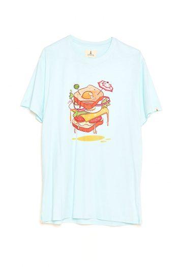 Camiseta Sandwich Tiwel wan blue