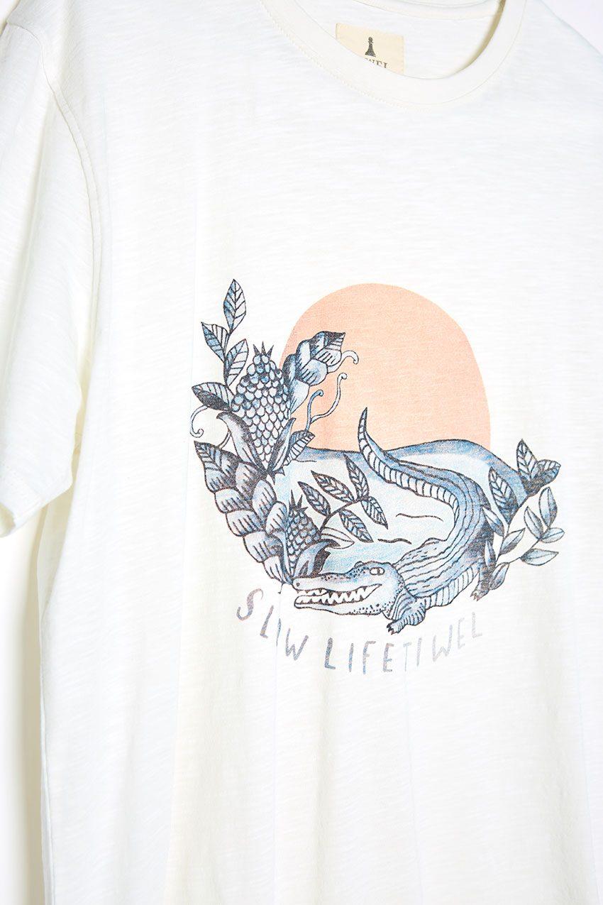 Camiseta Slow Life Tiwel snow white 03