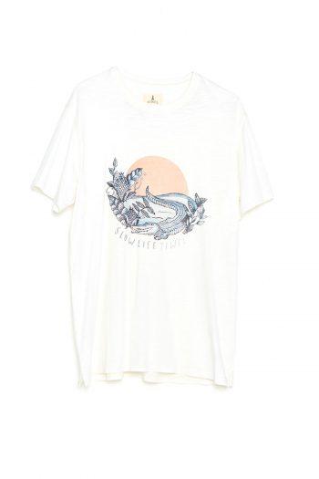 Camiseta Slow Life Tiwel snow white