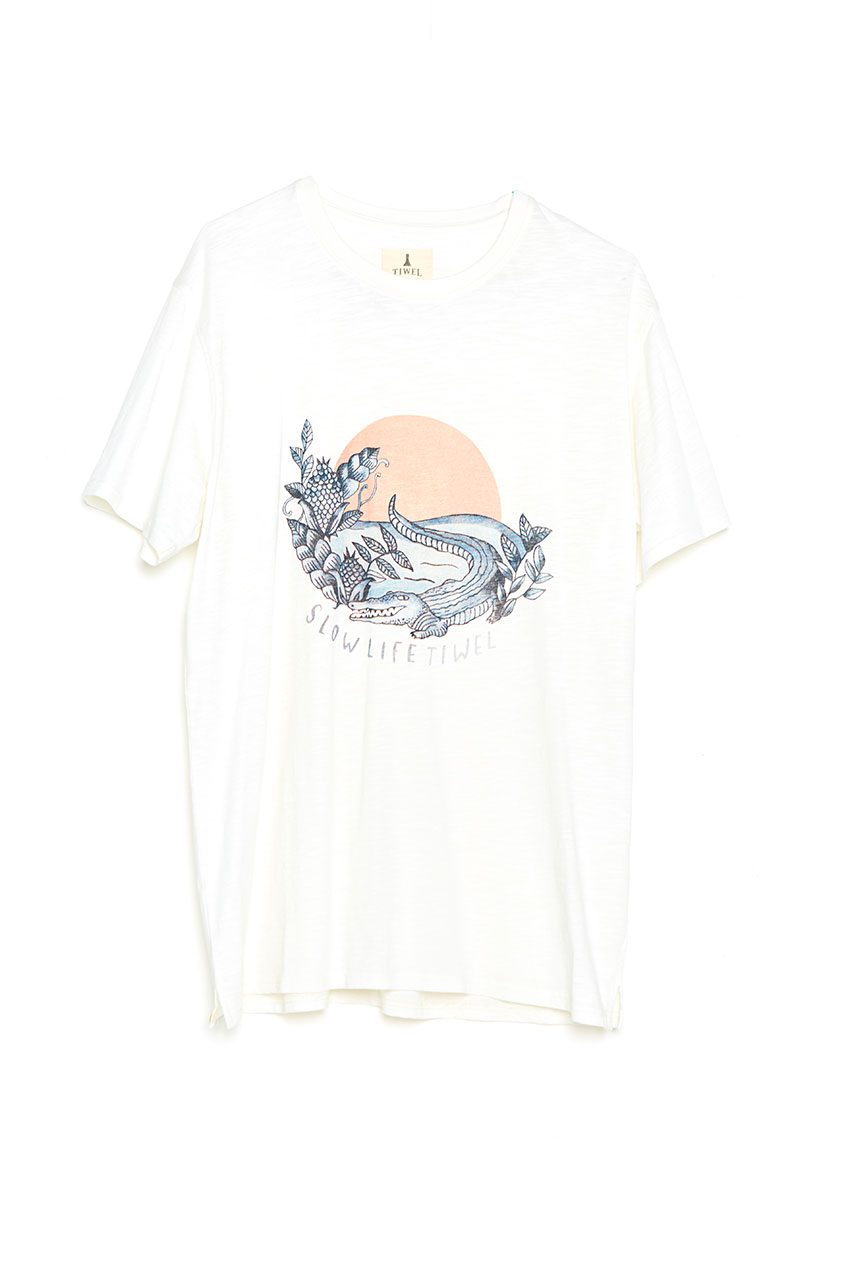 Camiseta Slow Life Tiwel snow white