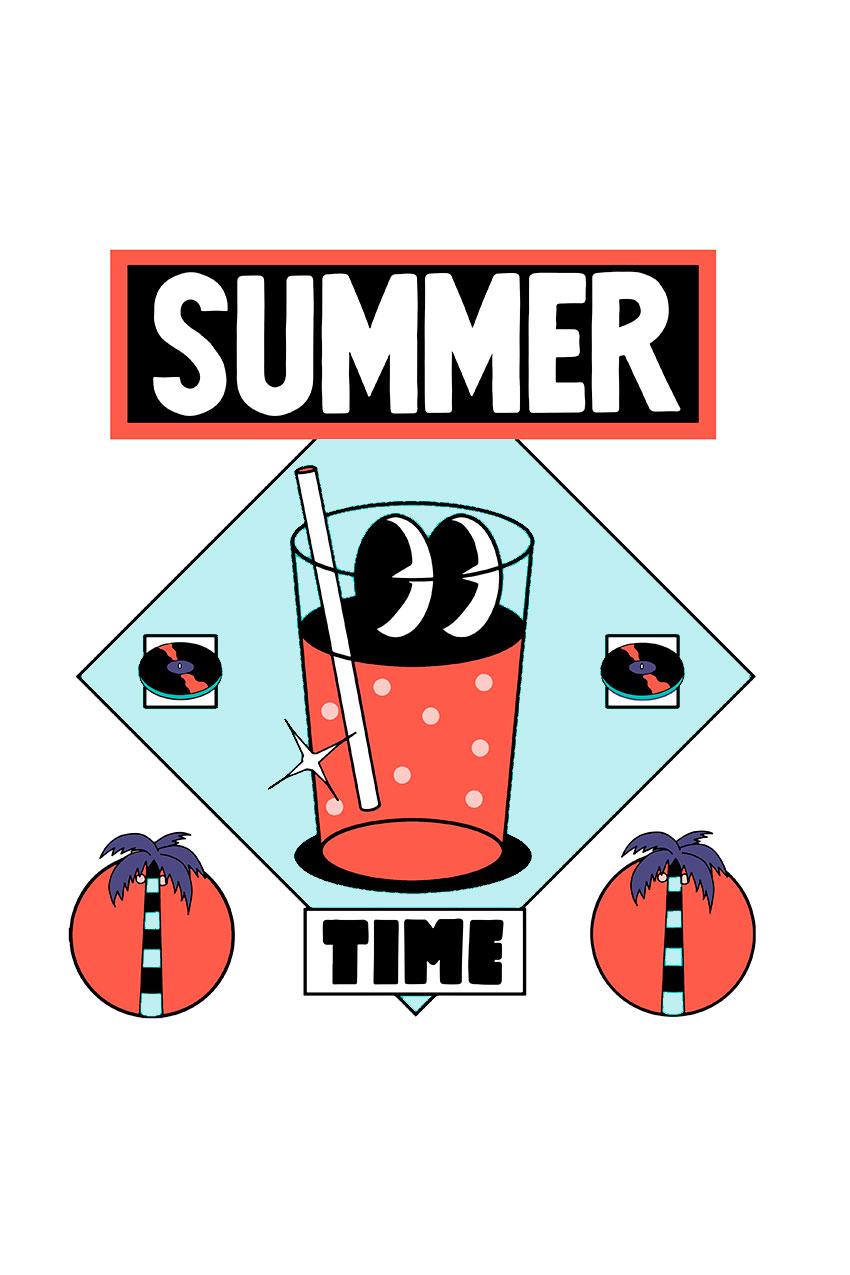 Camiseta Summer Time Tiwel Yeye Weller rosewater 04