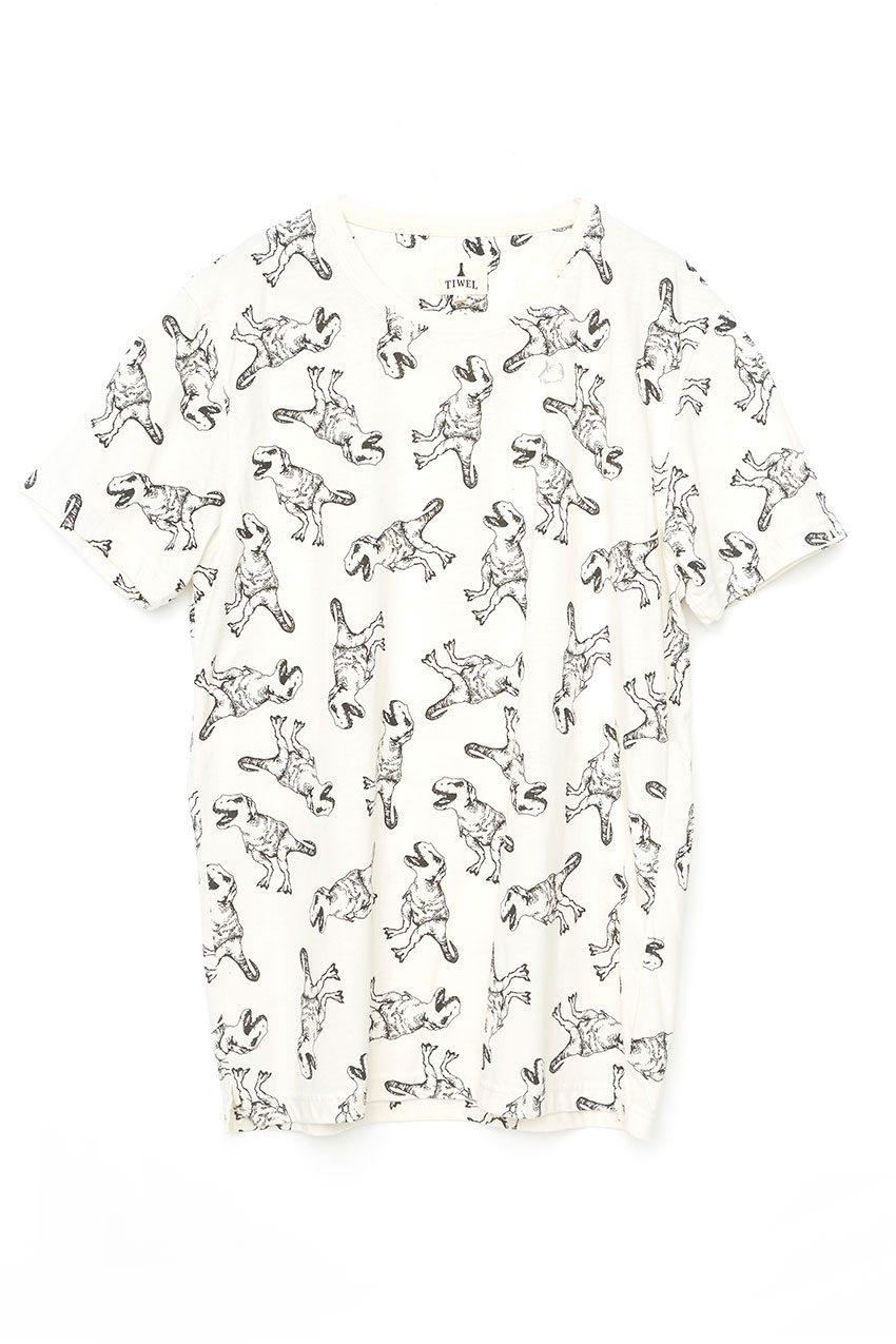 Camiseta-Tee-Tiwel-Ecru-Melange