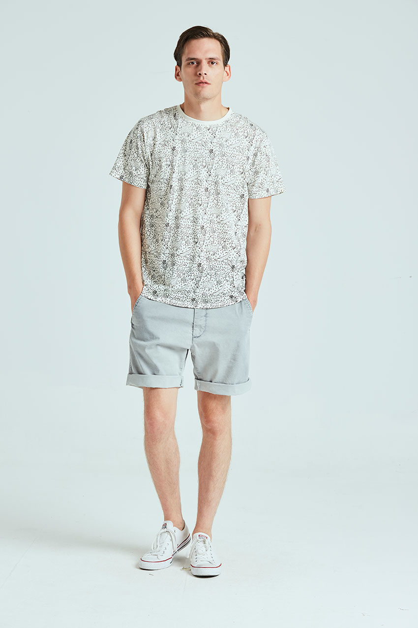 Camiseta Trazo Tiwel snow white 01