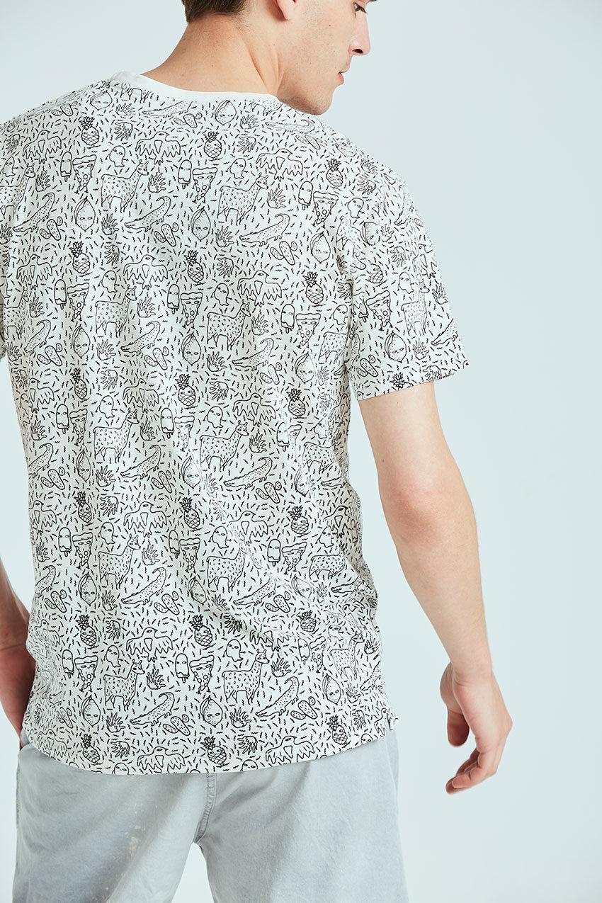 Camiseta Trazo Tiwel snow white 02