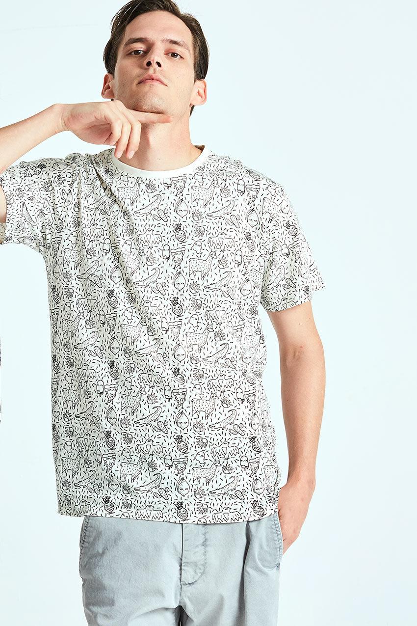 Camiseta Trazo Tiwel snow white 03